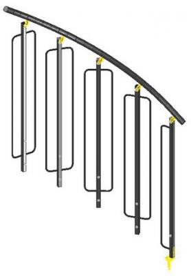 Absperrungen-Geländer stahl