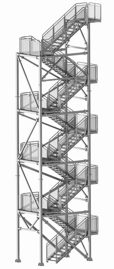 Stahl-treppentürme