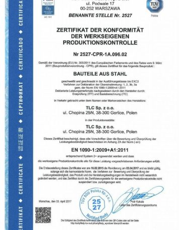 Zertifikat 2017