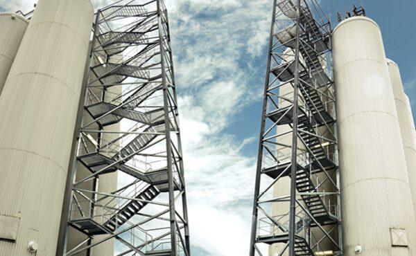 Stahltreppentürme